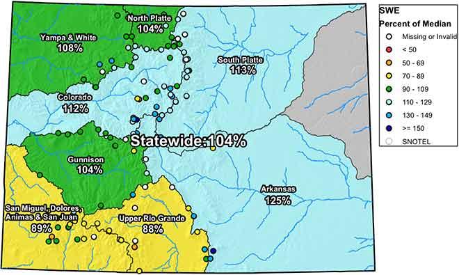 MAP 6xJ1 Colorado River Basin Snow Water Equivalent - NRCS