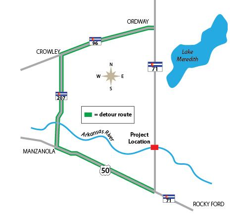 MAP Highway 71 Detour - CDOT