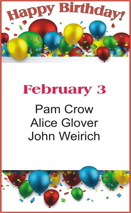 Happy Birthday to Crow Glover Weirich