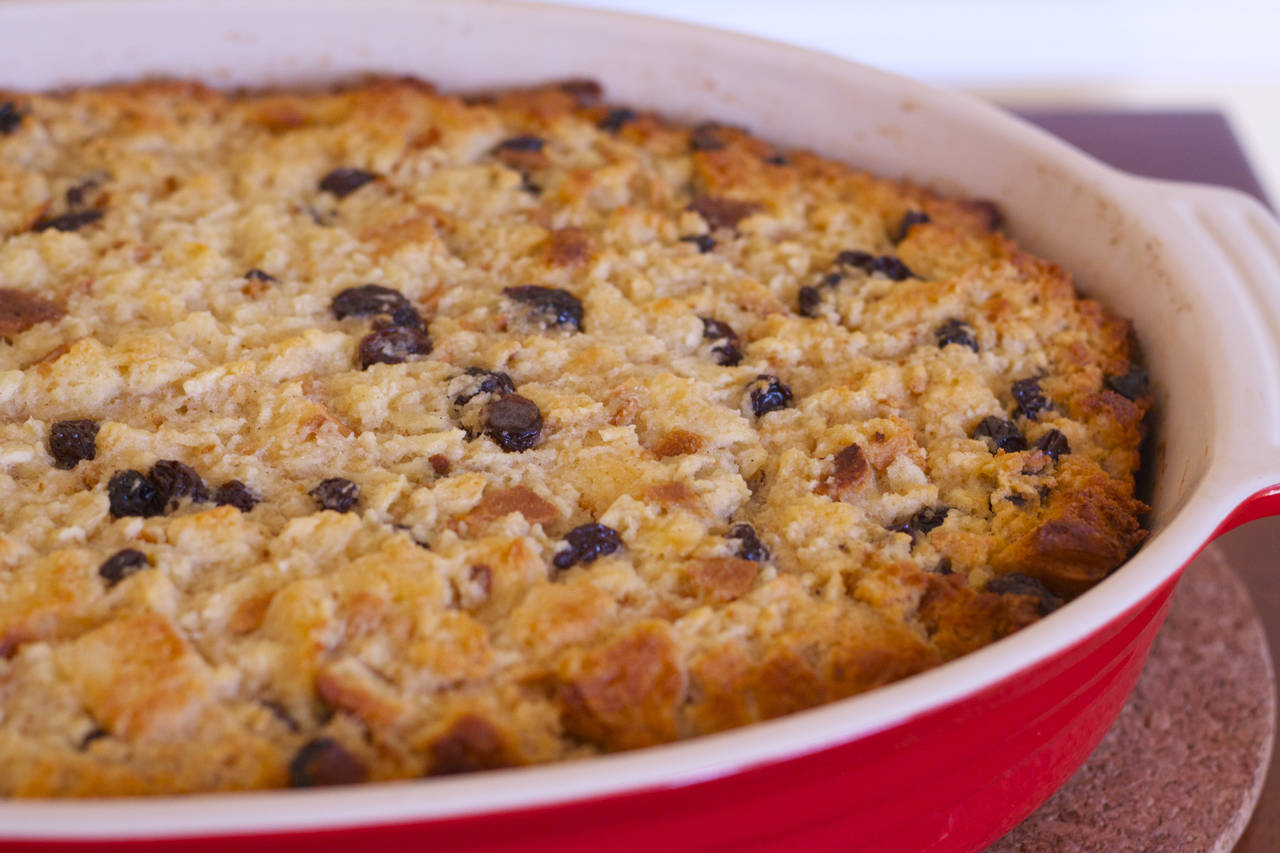 PICT Rum Raisin Bread Pudding - makebetterfood.com