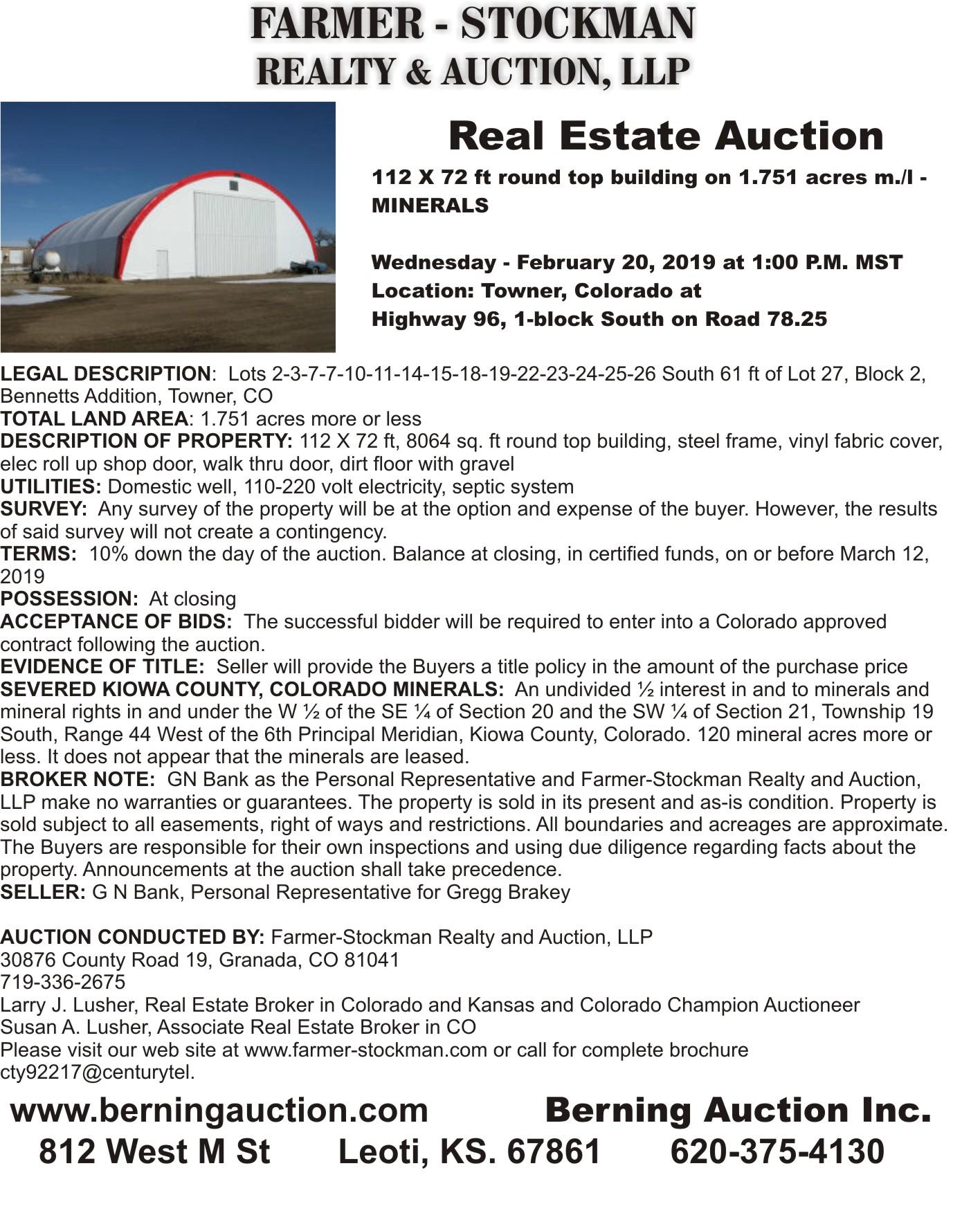 AD 2019 Berning Auction - Brakey 2
