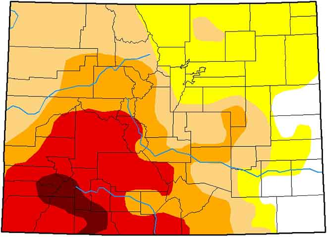 MAP Colorado Drought Conditions - February 5, 2019