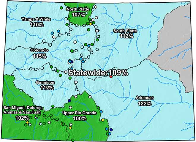 MAP Colorado River Basin Snow Water Equivalent - February 10, 2019 - NRCS