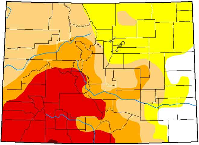 MAP 64J1 Colorado Drought Conditions - February 12, 2019