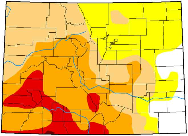 MAP Colorado Drought Conditions - February 19, 2019