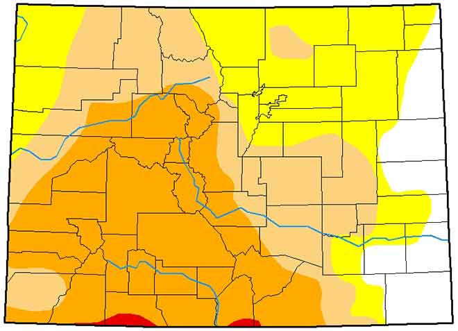 MAP Colorado Drought Conditions - February 26, 2019