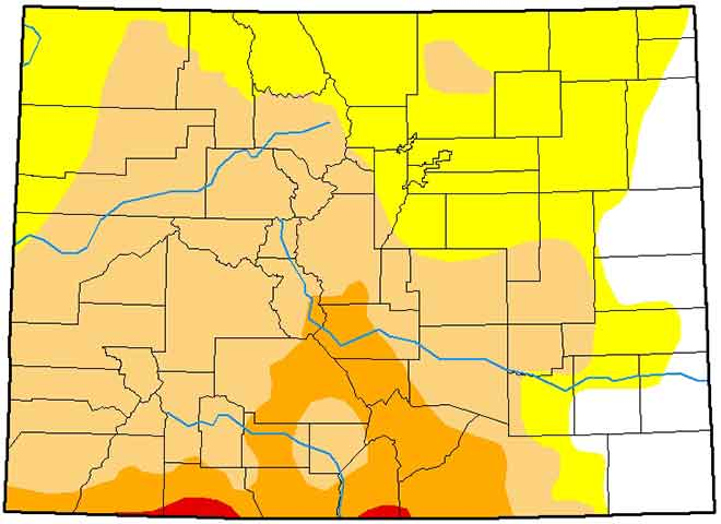 MAP Colorado Drought Conditions - March 5, 2019