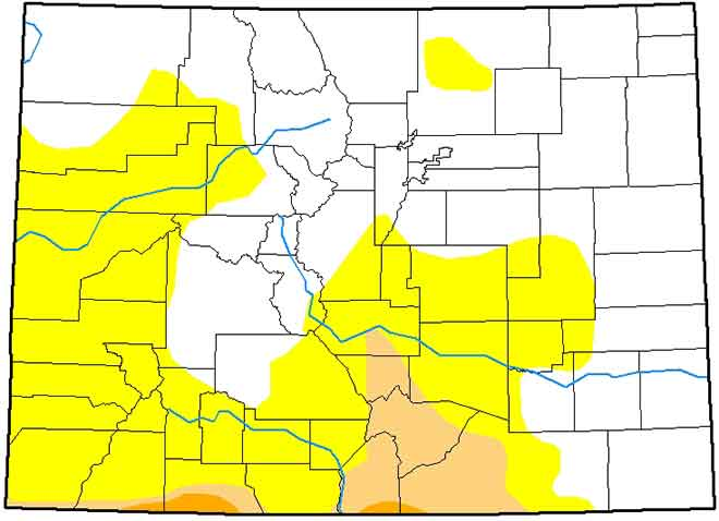 MAP Colorado Drought Conditions - March 19, 2019