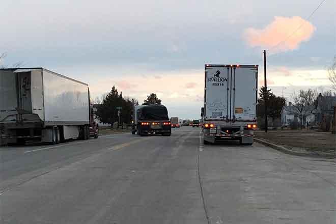 PICT Trucks Stopped in Eads - Jeanne Sorensen