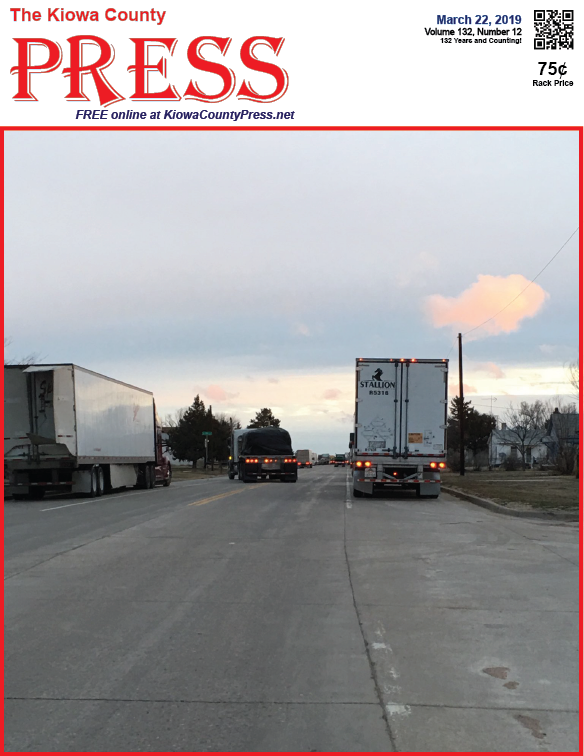 Photo of the Week - 2019-03-22 - Trucks backed up on the highway.