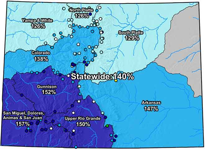 MAP Colorado River Basin Snow Water Equivalent - March 21, 2019 - NRCS