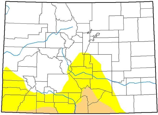 MAP 6xJ1 Colorado Drought Conditions - March 26, 2019