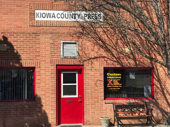 PICT Kiowa County Press front door - Chris Sorensen
