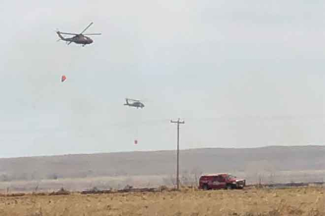 PICT National Guard Helicopters at the Black Bridge Fire April 5, 2019 - Casey Sheridan