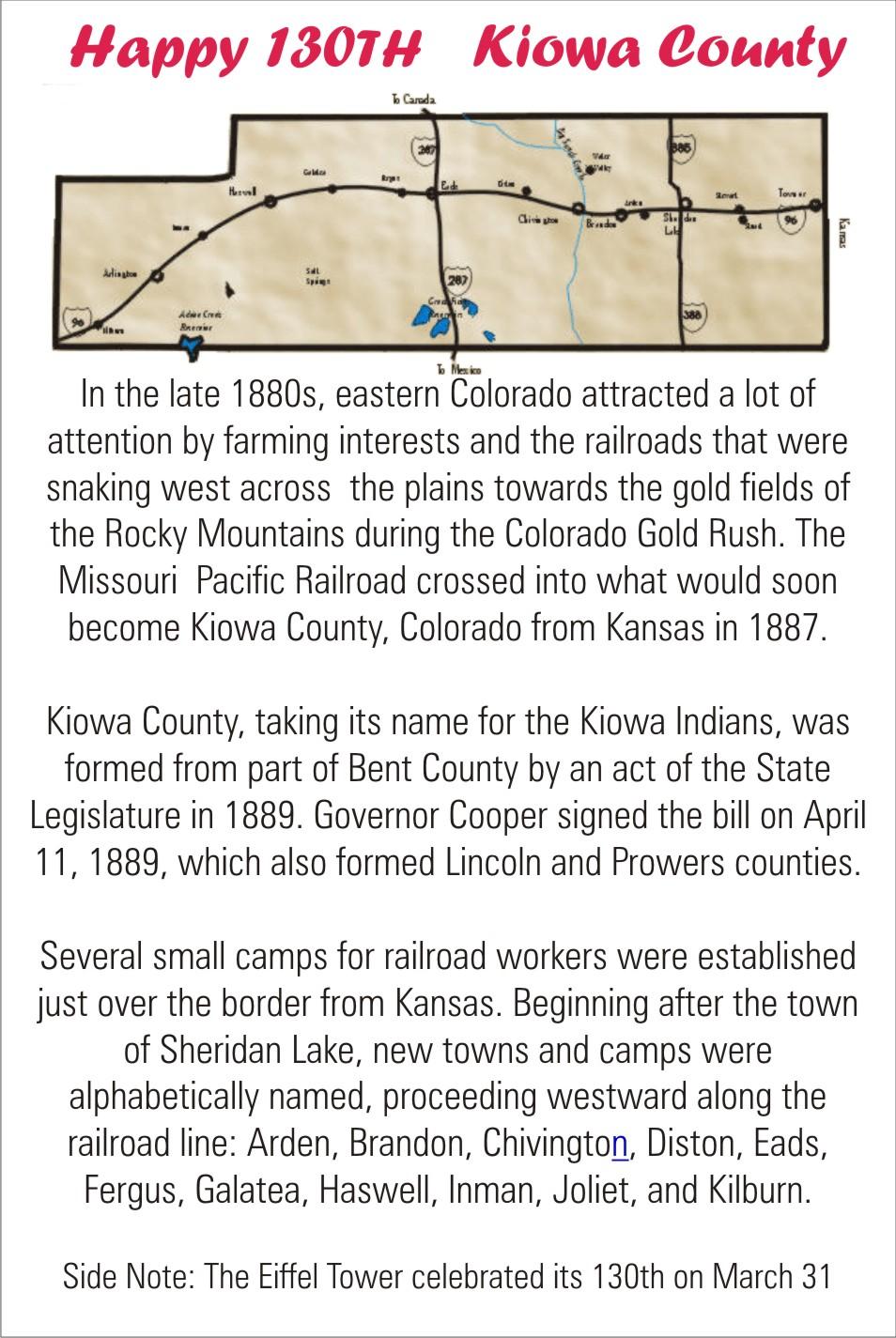 Happy Birthday to Kiowa County