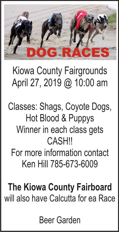 AD 2019-04 Kiowa County Fair Board - Dog Races