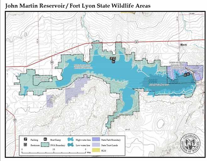 MAP John Martin State Wildlife Area