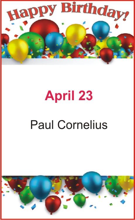 Happy Birthday to Cornelius