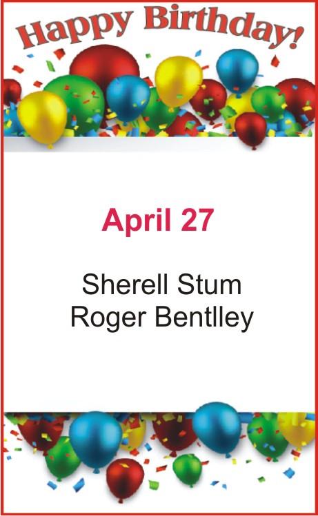 Happy Birthday to Stum Bently