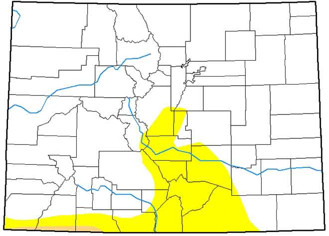 MAP Colorado Drought Conditions - April 30, 2019