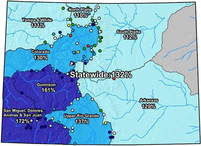 MAP Colorado River Basin Snow Water Equivalent - May 3, 2019 - NRCS