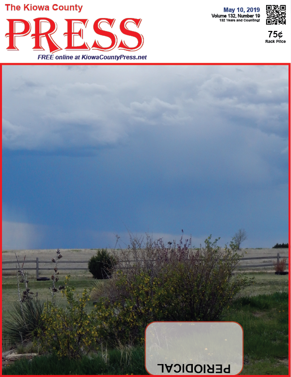 Photo of the Week - 2019-05-10 - Thunderstorm season has returned to Eads and Kiowa County, Colorado