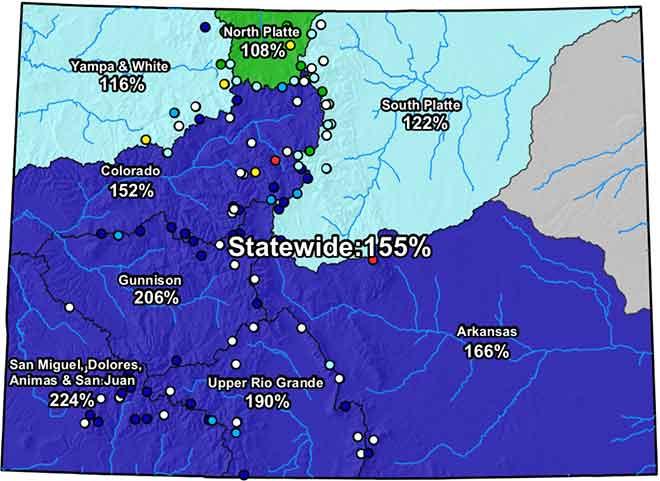 MAP Colorado River Basin Snow Water Equivalent - May 15, 2019 - NRCS