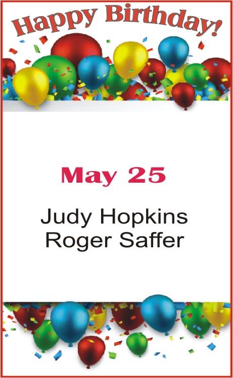 Happy Birthday to Hopkins Saffer