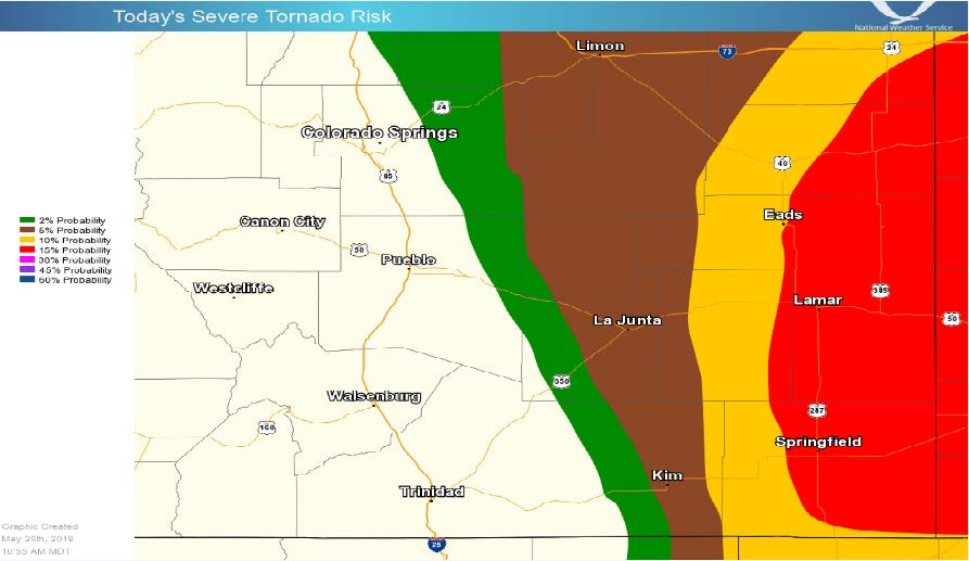 updated) Risk increasing for tornadoes, large hail in southeast ...