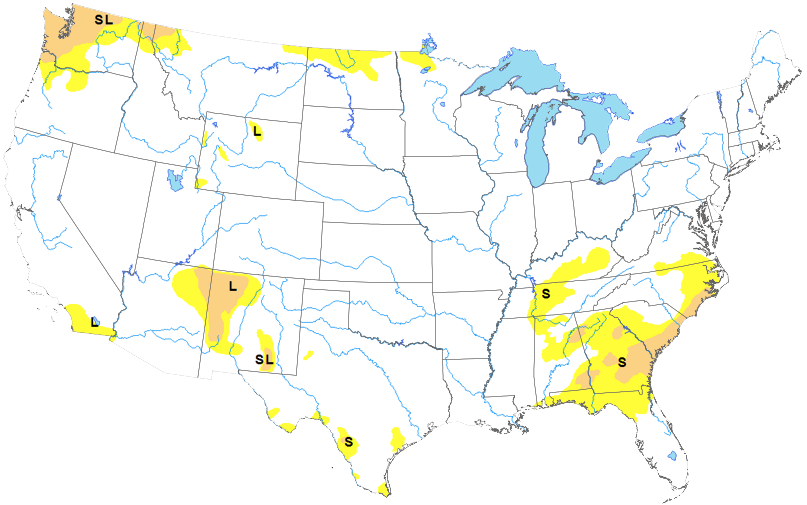 MAP National Drought Conditions May 28, 2019