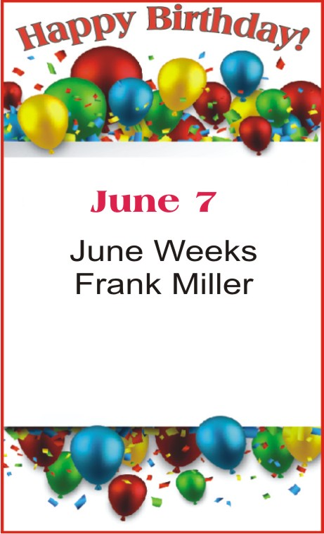 Happy Birthday to Weeks Miller