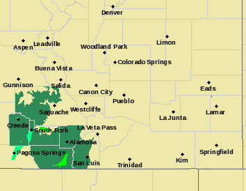 MAP Weather Alerts in Southeast Colorado June 8, 2019 - NWS