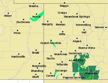 MAP Weather Alerts in Western Colorado June 8, 2019 - NWS