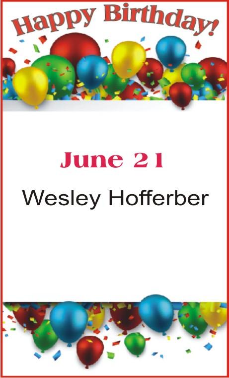 Happy Birthday to Hofferber