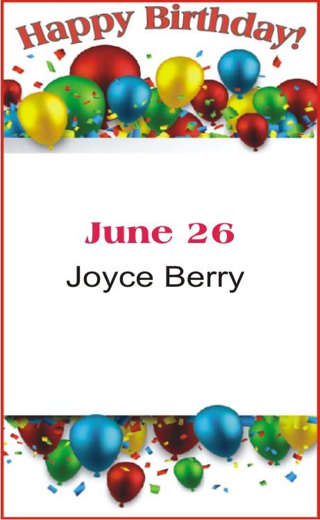 Happy Birthday to Berry