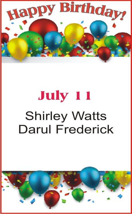 Happy Birthday to Watts Frederick