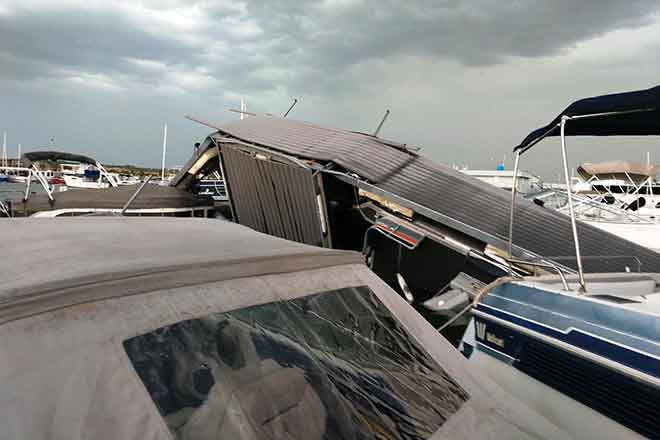 PICT 64J1 Damage at North Marina at Lake Pueblo - CPW