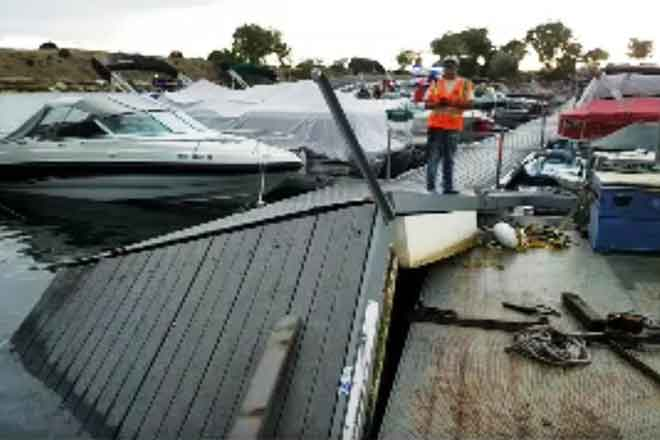 PICT Damaged Dock at Lake Pueblo North Marina - CPW