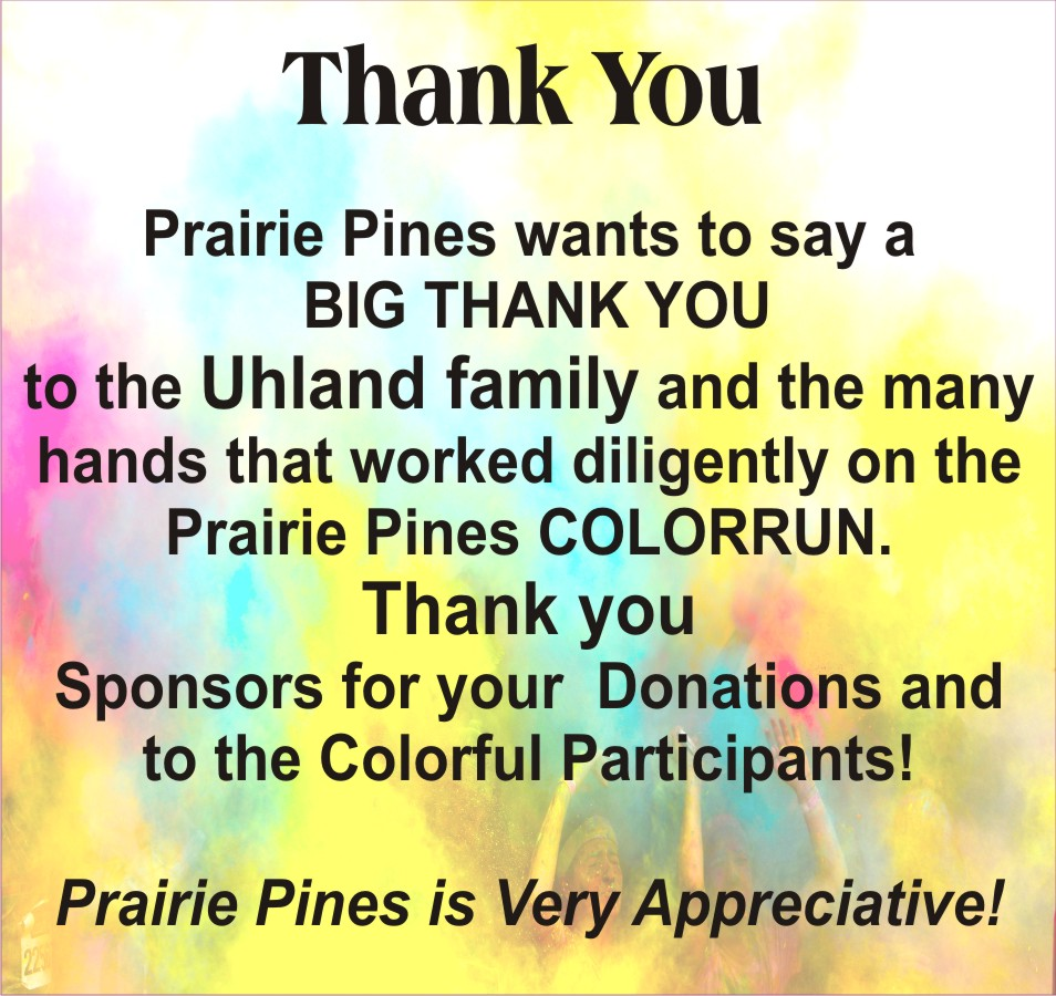 COT Card of Thanks - Prairie Pines Assisted Living Center