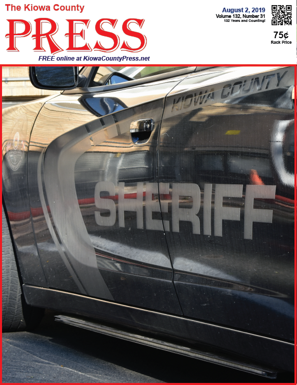 Photo of the Week - 2019-08-02 - Kiowa County Sheriff's vehicle at the courthouse in Eads, Kiowa County, Colorado.