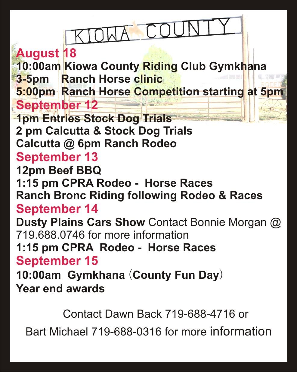 AD 2019-08 Kiowa County Fairgrounds Events