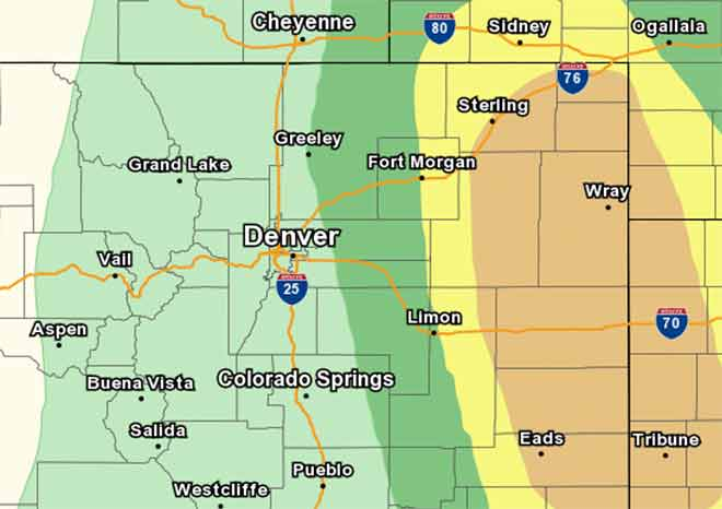 MAP Severe weather outlook for August 13, 2019 - NWS