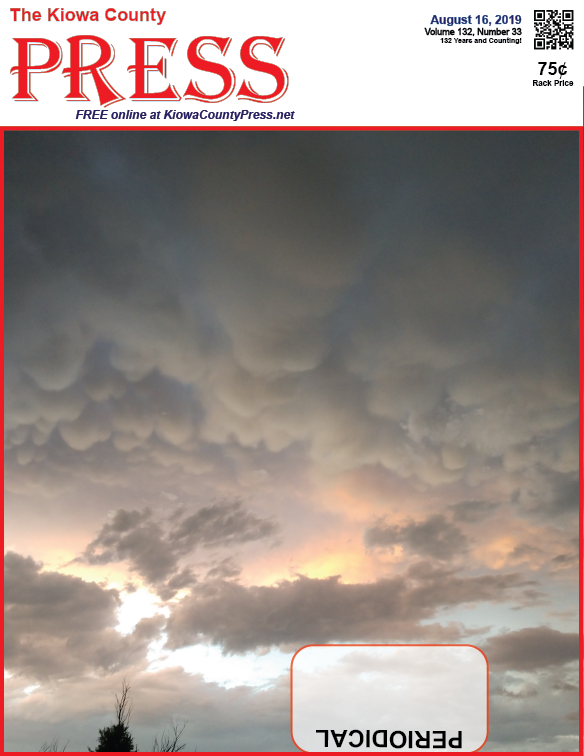 Photo of the Week - 2019-08-16 - Clouds over Cheyenne County, Colorado