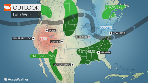 MAP National weather outlook for August 20, 2019 - AccuWeather
