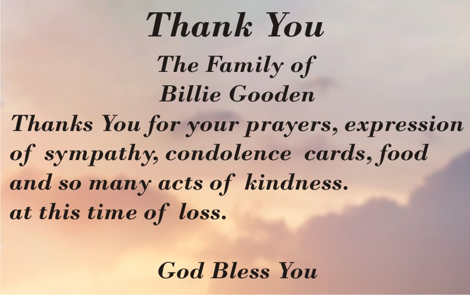 COT - Family of Billie Gooden