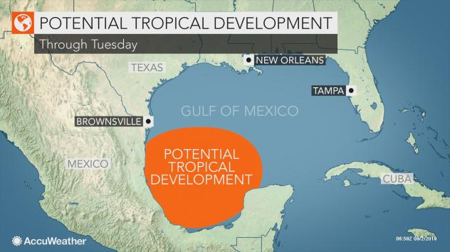 MAP Potential tropical development in the Gulf of Mexico the week of September 2, 2019 - AccuWeather