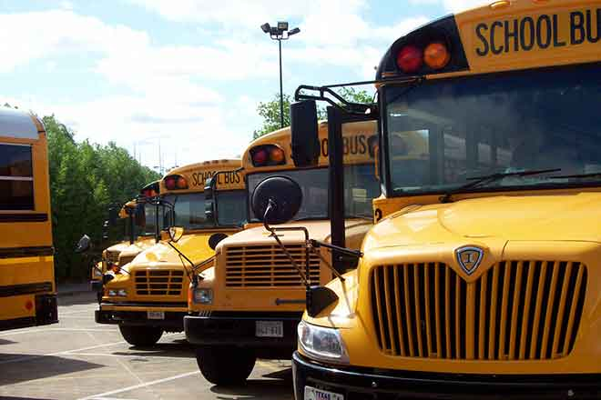 PICT School Buses - EarthTalk - madame.furie, FlickrCC