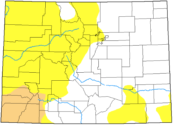 MAP Colorado Drought Conditions - September 10, 2019 - National Drought Mitigation Center