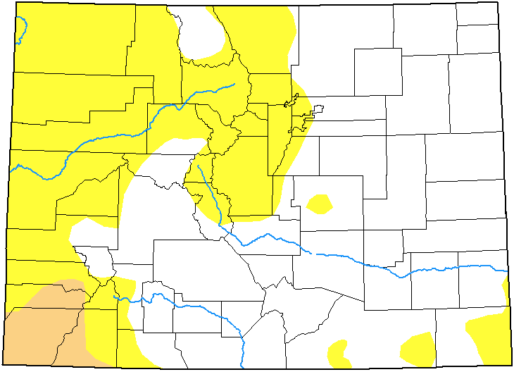 MAP Colorado Drought Conditions - September 3, 2019 - National Drought Mitigation Center