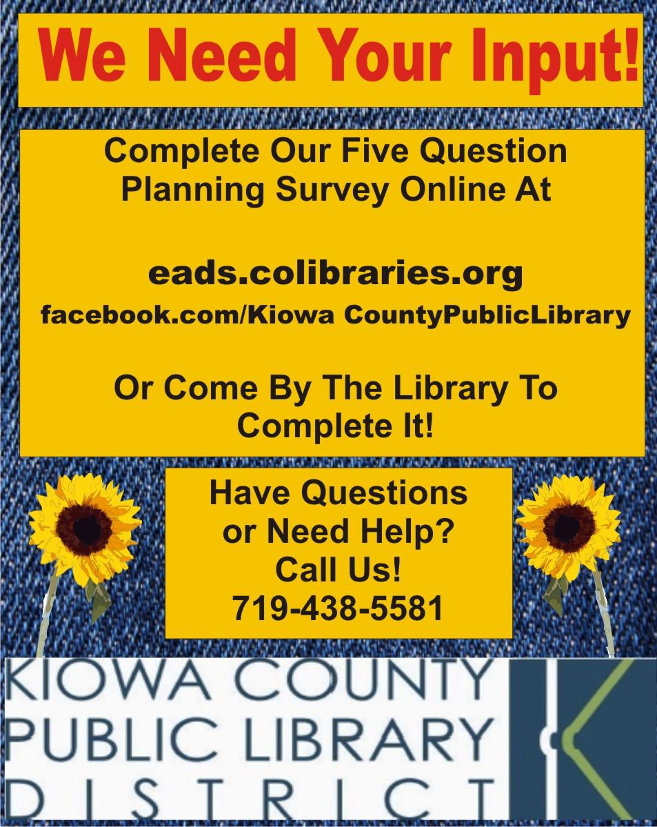 AD 2019-09 Community Survey - Kiowa County Public Library